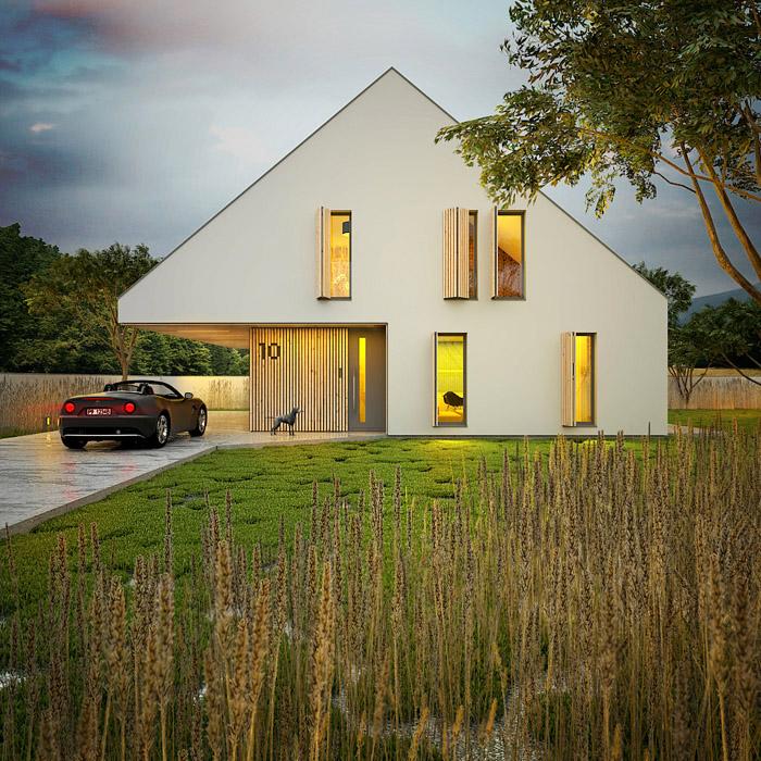 projekt nowoczesnego domu 3